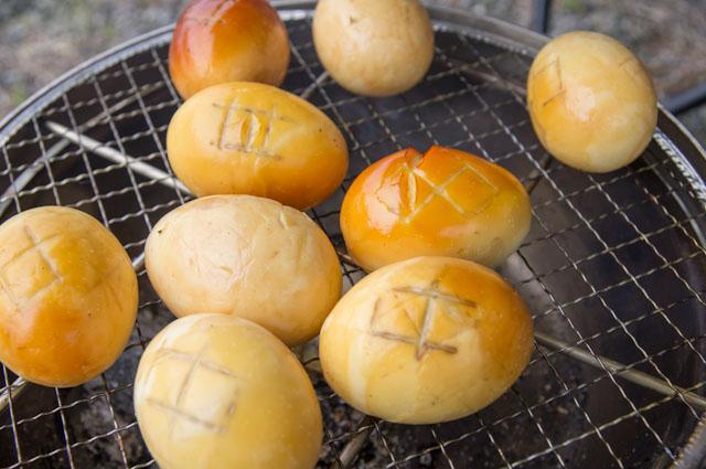 茶系の燻製卵
