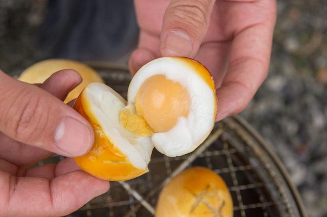 燻製卵の出来栄えは